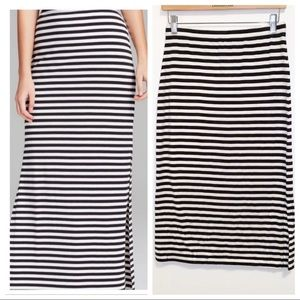 Michael for Michael Kors Striped Maxi Skirt-S